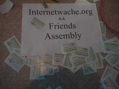 Internetwache.org Stickers and Assembly
